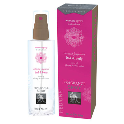 Feromonen Bed & Body Spray Voor Vrouwen - Kers & Witte Lotus
