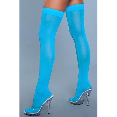 Hoge Nylon Kousen - Turquoise