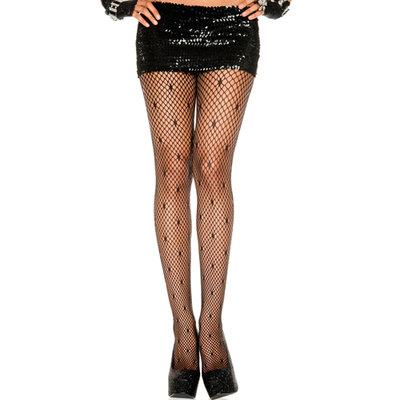Netstof Panty Met Stippen - Zwart
