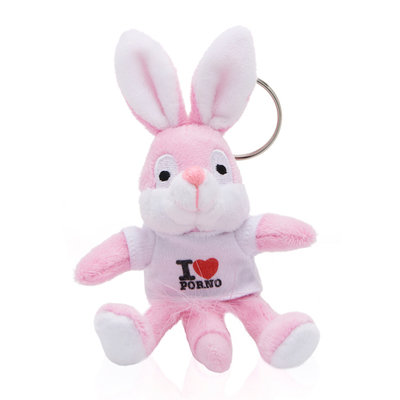 Sleutelhanger Naughty Bunny - Wit