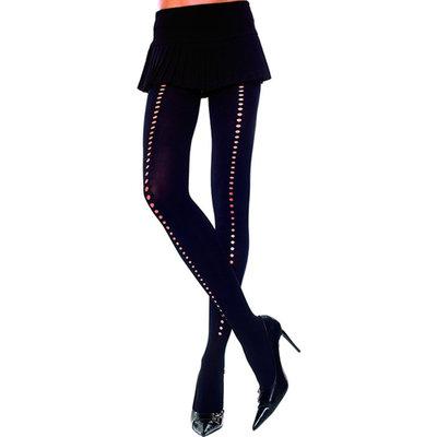 Panty Met Gaatjes - Zwart