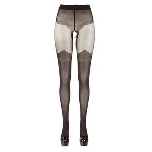 Panty Met Kousen Look - Zwart